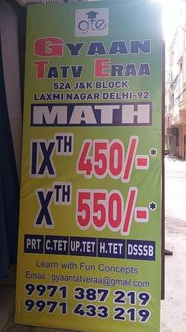 Dsssb,   up tet (  9 th , 10th math) jyoti ngr
