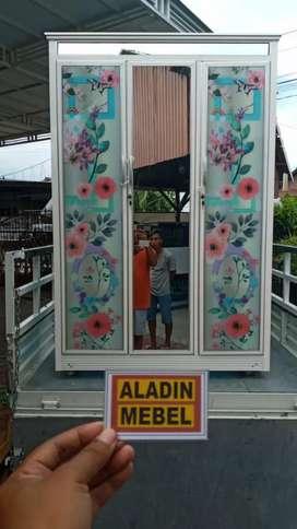 Lemari pintu 3 kaca print ready Aladin sidoarjo Gedangan 1310