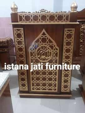 Ready stock mimbar masjid khutbah minimalis mimbar podium