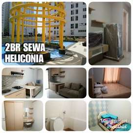 Sewa 2BR tower H Bassura City furnished perabot lengkap basura
