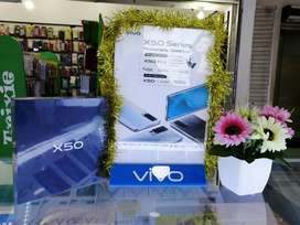VIVO X50 RAM 8 ROM 128 READY WARNA FROST BLUE  HP TRANDY JAMANSEKARANG