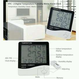Digital Temperature, Humidity Meter with Clock Alarm, Calender