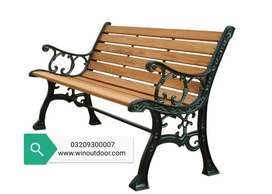 Outdoor Park Benchs cast iron with wooden strips