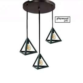 Lampu Gantung Limas Industrial Lighting Bahan Besi Interior Rumah Cafe