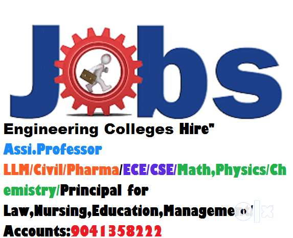 "Engineering Colleges Hire""Assi,Professor LLM/Pharma/Mechanical/Math,/C 0"
