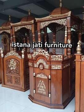 Ready stock mimbar kubah ornamen ( mimbar masjid khotbah )