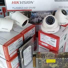 Hikvision 2 MP Turbo HD Paket 4 Kamera Lengkap