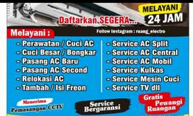 Service ac kulkas dan mesin di tangani dengan ahli profesional