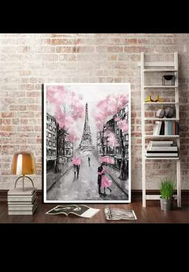 Oil painting Paris city canvas