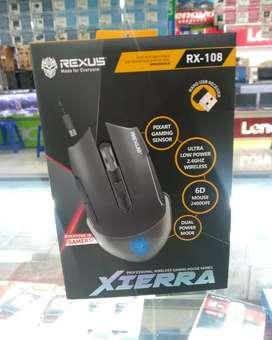 Mouse gaming wireless Rexus RX-108 Xierra bisa di cas ulang
