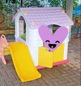 Mainan Preloved Playhouse Labeille Dream Play House with flipper slide