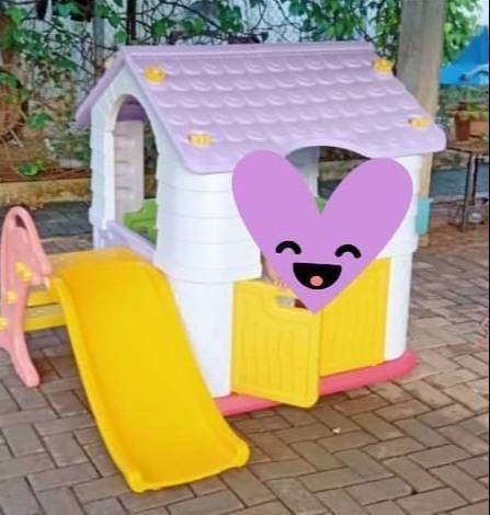 Mainan Preloved Playhouse Labeille Dream Play House with flipper slide 0