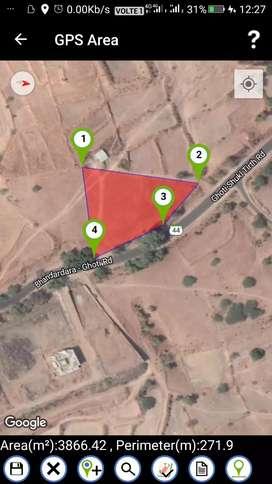 38 guntha multipurpose Road front land