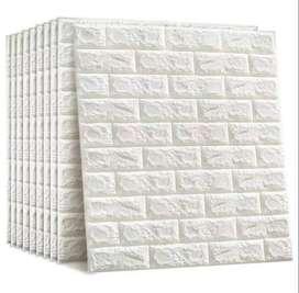 Wallpaper foam 3D Bata & kayu Murah