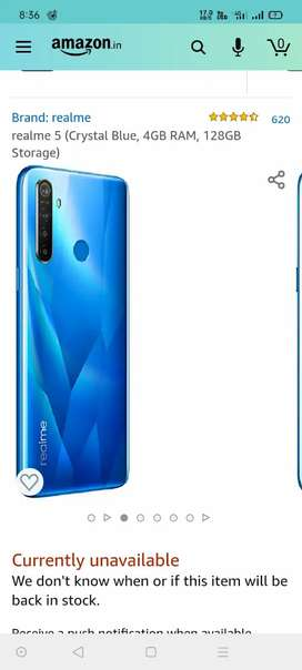 Realme mobile with box and bill available just 6 months used