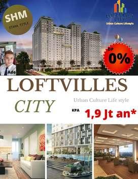 Apartemen Ciater Kpa 1,9 jutaan, Dp 0%