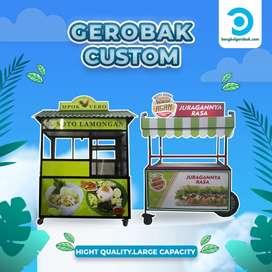 Booth Portable // Gerobak Alumunium Untuk Jualan Minuman Kekinian