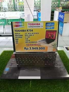 Laptop Toshiba R734 Mantul Gan Core i5
