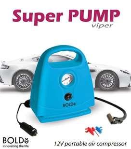 BOLDE Super Pump Portable Air Compressor Kompressor Pompa Ban Mini