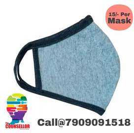 Double layer daily use soft Cotton mask