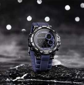 Jam tangan digital original Bostanten kondisi New Navy Blue