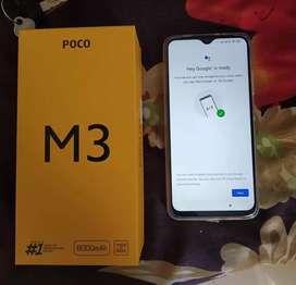 Poco M3 6/128 with warranty and bill box