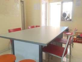 Meja Meeting Kotak Kantor Rapat 180x90x75 - Putih Abu
