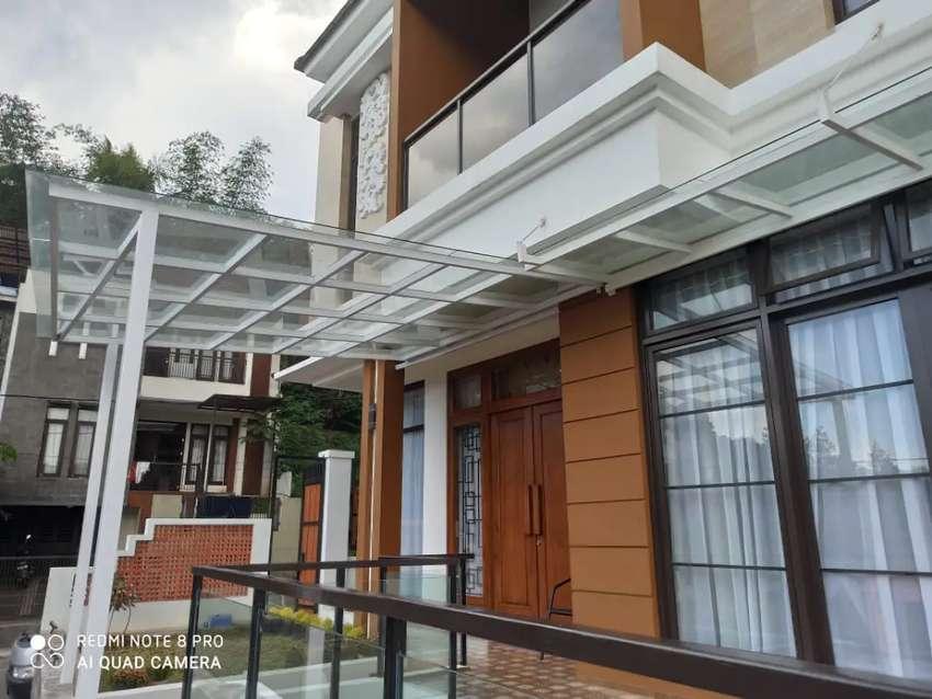 Canopy atap kaca bengkel las SR