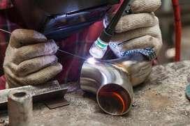 Stainless steel handrail fitter and welder