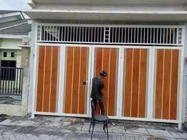 Pintu pager minimalis kombinasi wotplank GRC