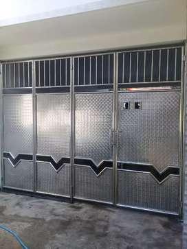 pintu lipat staenliss dan galvanis anti karat,folding gate roling door