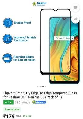 Flipkart SmartBuy Tampered Glass for Realme C3 or C11