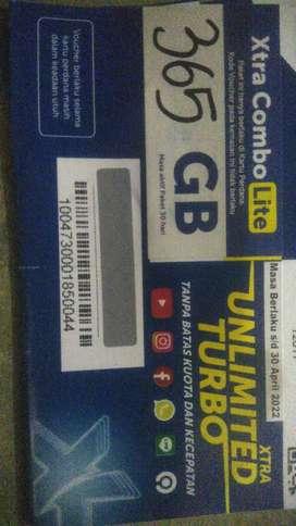 XL Kuota 365 GB 24jam Selama Setahun. pemakaian 1GB/hari