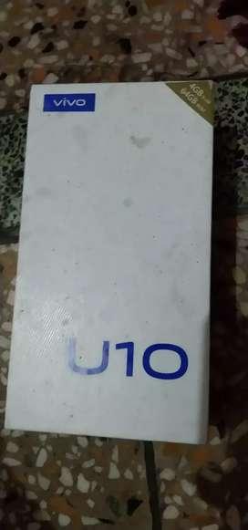 Vivo U10 only 2 months old Bill box h