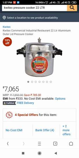 Cooker 22 litres new brand