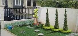 Tukang taman Bayah sedia rumput taman permeter