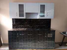 Fully Furnished Modular Kitchen. Unused, Movable.