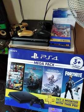 PS4 slim 1tb baru 1 bulan bonus kaset PES 2020 dan banyak lagi stik 2