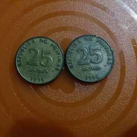 Koin 25 sentimo Fhilipina thn 1996