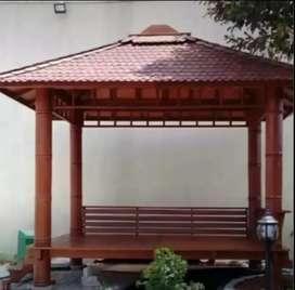 Saung Gazebo minimalis klasik