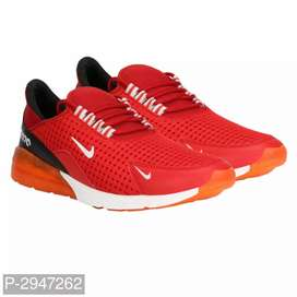 Men's Red Mesh Sports Shoes