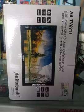 Head unit double din usb mmc mirror link 7in full panel glas audiobank