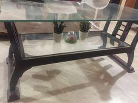 Home use Wooden& glass table in good condition