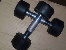 Pair Of Rubber Coated Dumbbells 12x12- 24KG