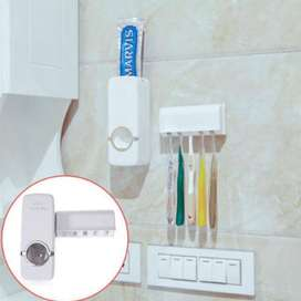 Fashion Automatic Toothpaste Dispenser Holder Bathroom Wall Mount Rack
