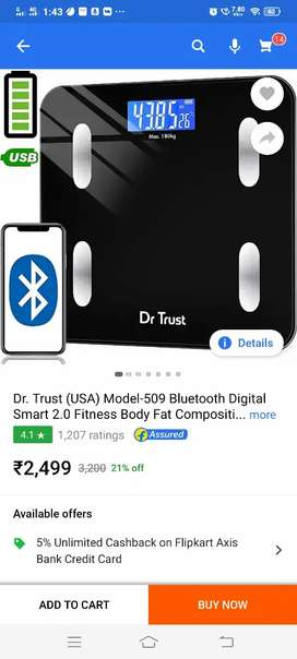 Dr TRUST smart body fat and composition scale 2.0