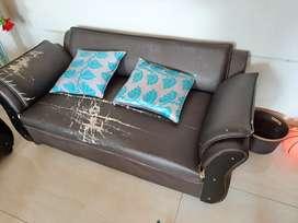 Sofa set  2×2 Brown color