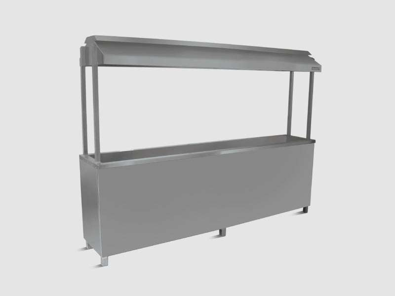 BBq Counter with storage and seekh stand