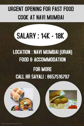 WE ARE HIRING MAHARASHTRIAN FAST FOOD COOK AT NEW MUMBAI