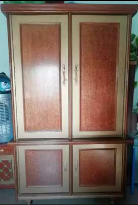 Two door pure wooden almari
